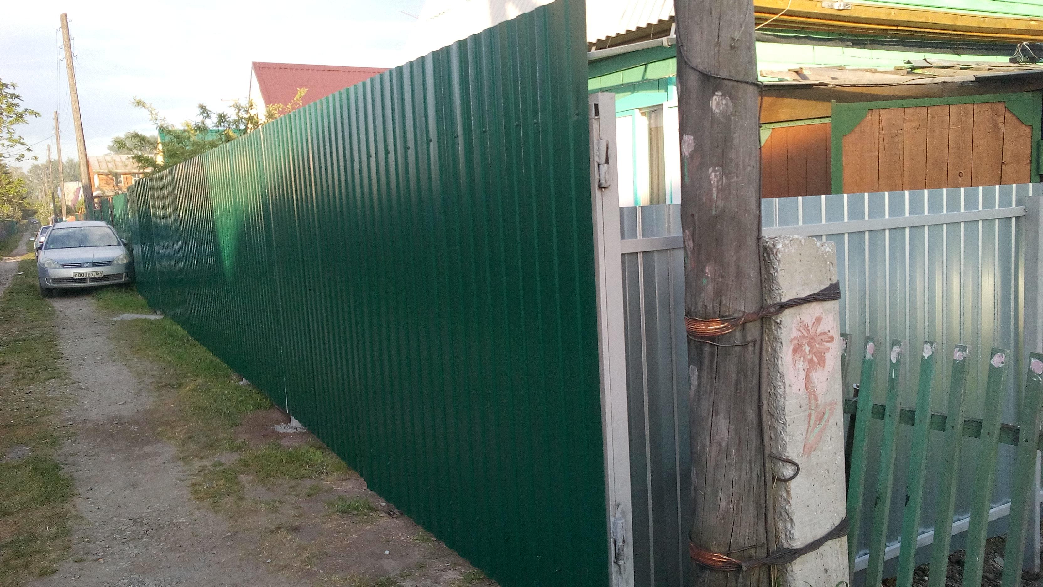 Делаем заборы на даче фото